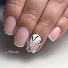 summer acrylic nails in 2020 Elegant Nail Designs, Creative Nail Designs, Beautiful Nail Designs, French Manicure Nail Designs, Acrylic Nail Designs, Nail Art Designs, French Nails, Summer Toe Nails, Summer Acrylic Nails