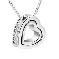 #xmas #Christmas #Soufeel - #Soufeel Austrian Crystal Eternal Love Necklace - AdoreWe.com