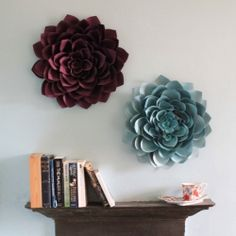 large felt flowers--This can be a DIY