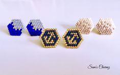 Earrings/Studs miyuki beads looming – Blue/anchor/pink for women – Stainless steel – Jewelry Handmade in Montreal Miyuki bunte Perlenohrringe! Tiffany Earrings, Bead Earrings, Fringe Earrings, Beaded Jewelry, Handmade Jewelry, Beaded Bracelets, Earrings Handmade, Jewelry Bracelets, Brick Stitch Earrings