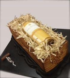 Bottle cake Bottle Cake, Coconut Flakes, Pulled Pork, Bartender, Amazing Cakes, Food Art, Spices, Sweets, Wine