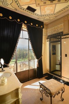 This is what you call a perfect compliment to the room. #window_treatments #drapes #curtains