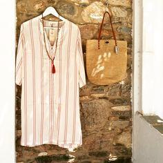 Boho Queens kaftan. Nota's boutique Antiparos island Greece. Kaftan, Boho Fashion, Bohemian, Shirt Dress, Boutique, Greece, Queens, Shirts, Island