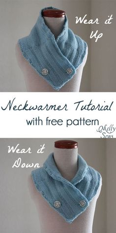 Neck warmer tutorial with free pattern - quick gift idea from Melly Sews #holiday #sew #diy