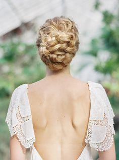braided wedding hair - photo by Luna de Mare Photography Chignon Wedding, Beach Wedding Hair, Braided Hairstyles For Wedding, Chic Wedding, Dream Wedding, Bride Makeup, Wedding Hair And Makeup, Hair Makeup, Bridal Braids