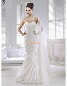 RONALD JOYCE Meerjungfrau Bodenlange Brautkleider aus Chiffon