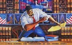 The Advocate by Ernie Barnes   The Black Art Depot