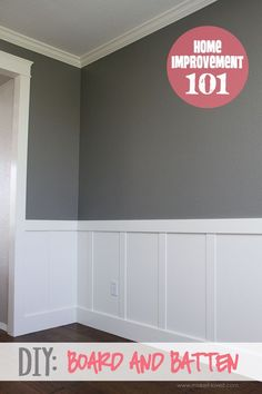 Home Improvement Hacks. - DIY Board and Batten - Remodeling Ideas and DIY Home I.Home Improvement Hacks. - DIY Board and Batten - Remodeling Ideas and DIY Home Improvement Made Easy With the Clever, Easy Renovation Ideas. Home Improvement Projects, Home Projects, Home Improvements, Board And Batten, My New Room, Home Remodeling, Bathroom Renovations, Home Renovations, Household Tips