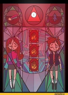 Gravity Falls window art