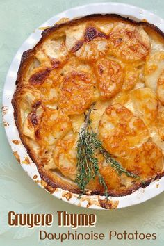 Potatoes Dauphinoise with Gruyere & Thyme