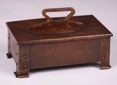 Benedict Studios Hammered Copper & Brass Box : Lot 178