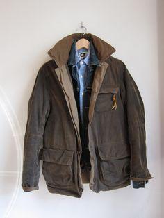A good idea - hand-waxing your own jacket. Cheaper than a belstaff or barbour. J Crew trapper - http://www.jcrew.com/mens_category/outerwear/cotton/PRDOVR~37001/37001.jsp