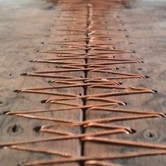 Wood and copper stitching - beautiful! Something neat to do with all of that extra copper