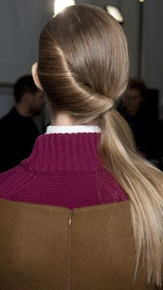 #twist #ponytail #long hair #catwalk styling