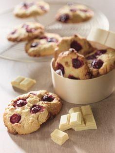 Cookies chocolat amandes griottes
