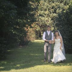 Kaleigh and Grant ecstatic after the First Look. #weddingphotography