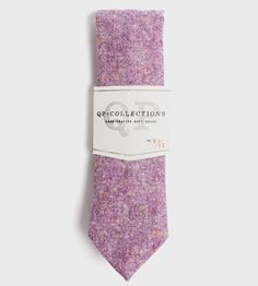 Wool Tweed Necktie, Purple by QP Collections on Scoutmob Shoppe