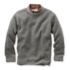 Orvis Plaited Wool Crew Sweater