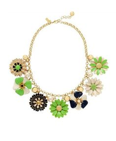 Colorful Pearl Flowers Necklace