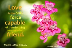 Love is the capable friend.