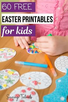 Your children will have fun with more than 60 adorable free Easter printables for kids, including coloring pages, crafts, dyed eggs, and Christian themed! Easter Food, Easter Decor, Easter Ideas, Easter Printables, Free Printables, Toddler Crafts, Kids Crafts, Easter Activities For Preschool, Easter Story