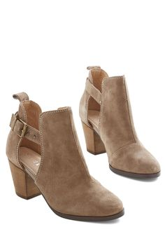 Started from the Blossom Bootie. Wherever your stylish journey began, youre here now - and chicly clad in these Chelsea Crew booties! #tan #modcloth