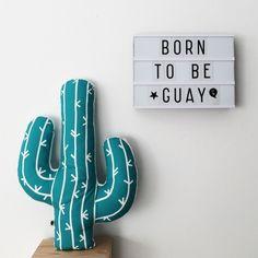 Cojín Cactus verde