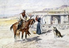 CM Russell Thoroughman's Home on the Range 1897 - Print Canvas Giclee Repro 8x10
