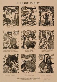 9 Aesop Fables. | The Old Print Shop