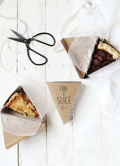 Printable Pie Box - The Merrythought Dessert Packaging, Bakery Packaging, Cookie Packaging, Food Packaging Design, Bottle Packaging, Pie Box, Box Cake, Cake Shop, Bake Sale