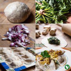 Kuchařka ze Svatojánu: ŠPENÁTOVÉ PIROHY Camembert Cheese, Dairy, Vegetarian, Foods, Fit, Google, Food Food, Food Items, Shape