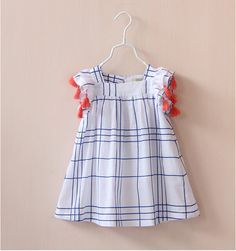 Tassel sleeve girl's dress