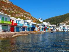 Houses painted in vivid colors at Klima village