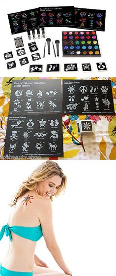 Temporary Tattoos: Glitter Stencil Kit - Glimmer Tattoo Body Art Business Starter Kit New + Poster BUY IT NOW ONLY: $149.99