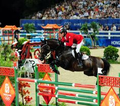 One of the greatest, Hickstead, at his last olympics.  Looks like its about as much effort as a 3' oxer...
