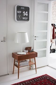 side table & clock