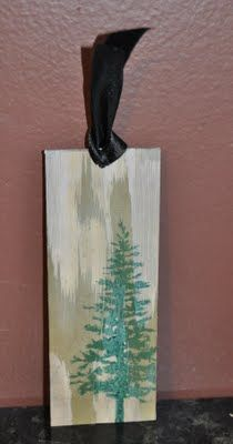 Creations By Christie: Weathered Wood Bookmarks