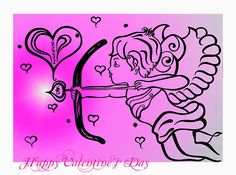 Happy Valentine's Day Cupid 2 Canvas Print / Canvas Art by Alex Art Canvas Art Prints, Fine Art Prints, Art Base, Sale Poster, Canvas Material, Cupid, Happy Valentines Day, Fine Art America, Digital Art