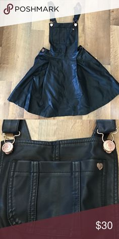 Overall dress by Kendall & Kylie Non-leather material black overall dress size S in excellent condition Kendall & Kylie Dresses
