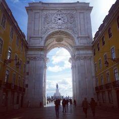 Triumphal Arch at Baixa & Rossio, Lisbon