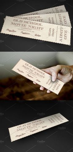 Old School movie event ticket. Invitation Templates. $6.00