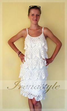 TENDENCIAS de la moda de ganchillo Crochet vestido personalizado hecho, hecha a mano, ganchillo, moda femenina