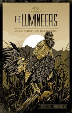 The Lumineers - gig poster - Amelia LeBarron Gig Poster, Poster Prints, Tour Posters, Band Posters, Art Hippie, Indie, Art Music, Rock Art, Vintage Posters