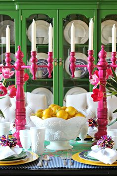 How to set a pretty table      Easter Tablescape      Spring Tablesetting      Dimples and Tangles