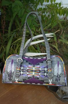 Hand Painted Purse By  Rez Hoofz   One Of A Kind ready by REZHOOFZ, $69.95