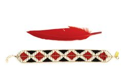 Aztec Black & Red XWide Bracelet