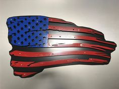 3 dimensional American Weathered Flag - Able CNC Cutting and Fabrication