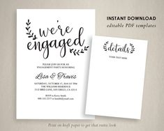 Engagement Invite Templates Classy Engagement Party Invitation Template We Are Engaged Engagement .