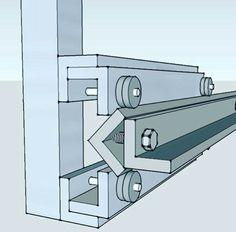 CNC rail, made of 1 aluminiun angle Metal Bending Tools, Metal Working Tools, Mechanical Design, Mechanical Engineering, Diy Cnc Router, Hobby Cnc, Camper Van Conversion Diy, Cnc Plasma, Homemade Tools