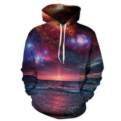 Hoodies Space Galaxy Sweatshirt Hoodie New Coat Casual Streetwear Fashion Hat Sweatshirt Men Women Brand Clothing 2017 Galaxy Hoodie, Hoodie Sweatshirts, Fashion Sweatshirts, Hoodies For Teens, Ärmelloser Pullover, Hip Hop, Galaxy Print, 3d Prints, Unisex